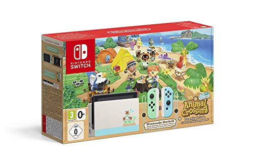 Nintendo Switch consola 32gb Verde/turquesa Neón Animal Crossing (Edición Limitada) + Animal Crossing New Horizons