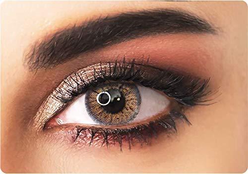 ADORE farbige Kontaktlinsen Farbe hellgrau- CRYSTAL LIGHT GREY – nicht gradiert – für ein LEUCHTENDES Resultat - dreimonatlich + kostenloser personalisierter Linsenbehälter
