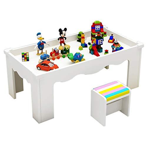 Wohnzimmer Tische Kinder-Lerntisch Kinder-Holztisch Multifunktions-Spieltisch halten das Gewicht von 200 kg aus Kaffeetische (Color : Weiß)