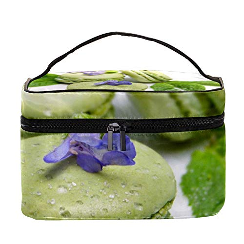 TIZORAX Macaron Vert Sac cosmétique Voyage Trousse de Toilette Grand Maquillage Organisateur boîte