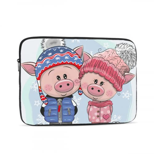 Mac Air Case Cute Pig Wear Colorful Scarf MacBook Pro Protector Multi-Color & Size Choices10/12/13/15/17 Inch Computer Tablet Briefcase Carrying Bag