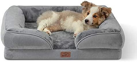 Bedsure Orthopedic Medium Dog Bed, Foam Dog Sofa with Removable Washable Cover - Bolster Dog Beds, Nonskid Bottom
