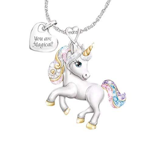 Féeries & Wunders Halskette Einhorn Figur Einhorn Figur Einhorn Figur Unicorn
