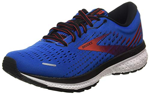 Brooks Ghost 13, Scarpe da Corsa Uomo, Blue/Red/White, 43 EU