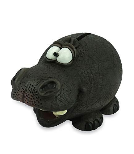 Les Alpes Orig. Figur Nilpferd Spardose 15 cm - Figur handbemalt aus Kunstharz - Kollektion Funny Animal Collection - 014 92811