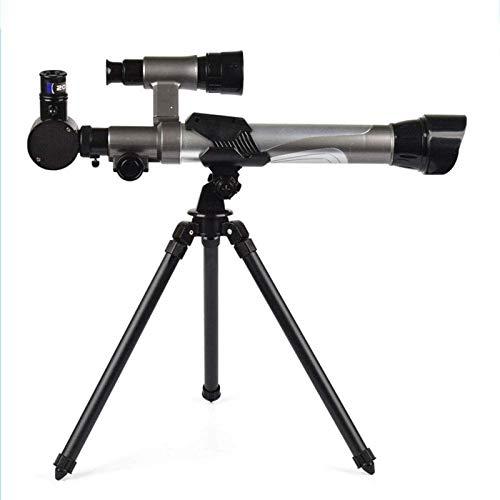 Telescopios para niños 20X-30X-40X Telescopio de ciencia ajustable para niños Juego de juguete educativo portátil de aprendizaje para principiantes Observación de estrellas del cielo Observación de