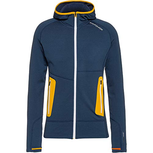 ORTOVOX Herren Fleece Light Hoody, Night Blue, M