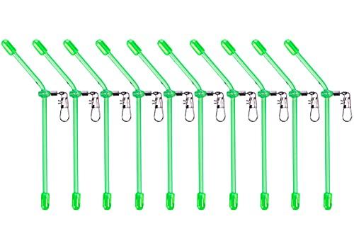 Zite Fishing Anti Tangle Boom Set - Sleeve-Tubes mit Wirbel - Karpfen Futterkorb Angeln Friedfische Zubehör 10 STK 10cm