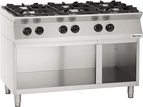 Cuisinière 6 feux, avec soubassement ouvert - Bartscher 1582101
