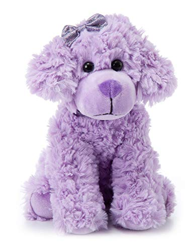 The Petting Zoo Scruffy Dog Stuffed Animal, Gifts for Girls, Purple Dog Plush Toy, 11 Inches