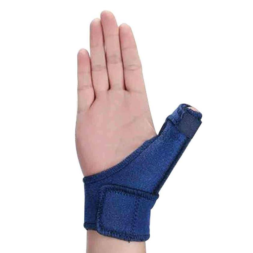 ベルロッド責めトリガーのための調節可能な親指スプリント親指リストストラップブレース親指スプリント親指関節炎痛み緩和ブレース(1個、ユニセックス、左&右の手青) Roscloud@