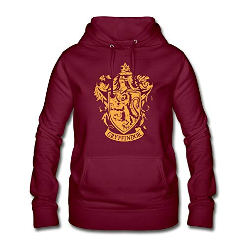 Harry Potter Gryffindor Wappen Frauen Hoodie, S (36), Bordeaux