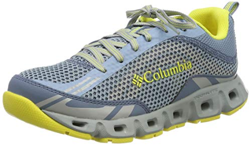 Columbia Drainmaker™ IV, Zapatillas para Mujer, Azul (Dark Mirage, Acid Yellow), 38 EU