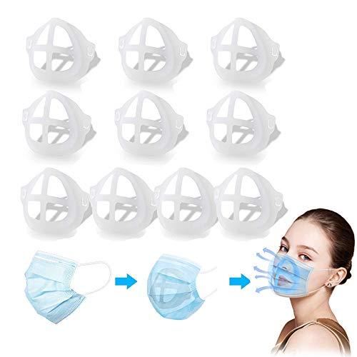 Innenstützrahmen der 3D-Gesichtshalterung für Lippenstiftschutz Komfortable Atmung Waschbar Wiederverwendbar, Lippenstiftschutzhalter für Mund- und Nasenstütze schützen (10er Pack)