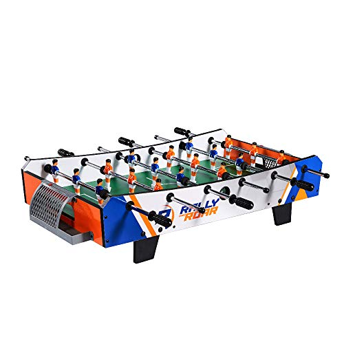 Rally and Roar Foosball Tabletop Games and Accessories, Mini Size - Fun, Portable, Foosball Soccer Tabletops Soccer - Recreational Hand Soccer for Game Rooms, Arcades, Bars, for Adults, Family Night, Best Gifts For Soccer Players