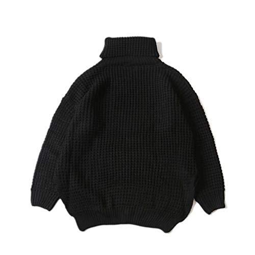 Coltrui warme trui mannen zwart grijs vallen schouder zijsplitsing losse trui kleding
