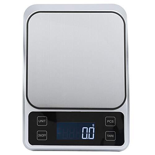Báscula de cocina digital multifunción de acero inoxidable de 5 kg/0,1g Báscula electrónica de peso de alimentos para cocinar Medicina