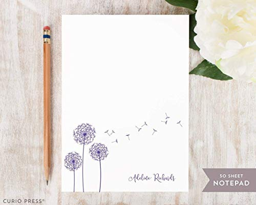 DANDELION NOTEPAD - Personalized Cute Stationery/Stationary Note Pad