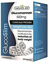 Natures Aid 500 mg GlucoSlim with Glucomannan Supplement – Pack of 120 Capsules Estimated Price : £ 13,60