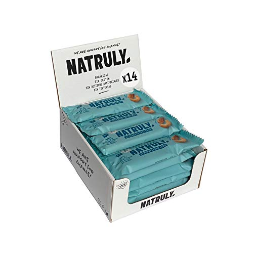 Energy Riegel Natruly, 100% Natürlich und Bio, Glutenfrei, Vegan, Ohne Zuckerzusatz, Pack 12x40g (Mandel und Cashew)