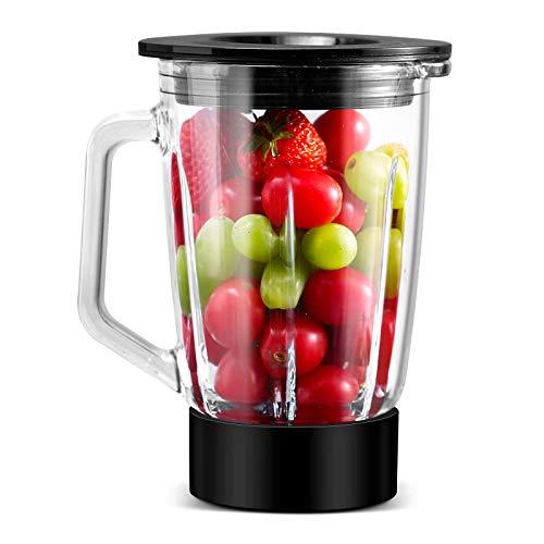 BioChef Astro Vakuum Mixer Zubehör Glasbehälter 750ml Borosilikatglas, japanische Edelstahlklingen, Vakuum Deckel, einfache Reinigung, kompatibel mit BioChef Astro Vakuum Mixer (Schwarz)