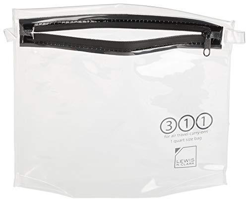 Lewis N. Clark Bolsa de higiene pessoal de bagagem TSA tamanho quarto-size, Necessaire de mão Tsa de quarto, Transparente, One Size