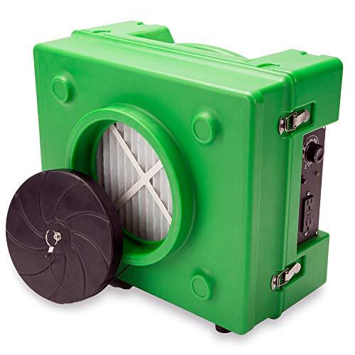 B-Air BA-RA-650-GN 1/3 HP 2.5 Amp HEPA Air Purifier Scrubber for Water Damage Restoration Equipment...