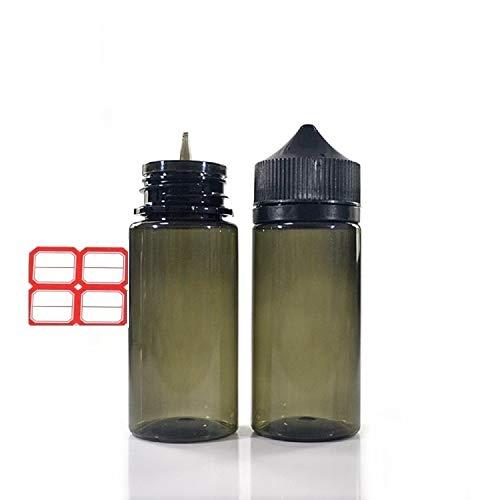 5 pcs de recambios de zumo Eliquid de 30 ml con embudo de etiqueta, plástico transparente y portátil, dispensador de aplicador de botellas vacío para cigarrillos ecig eshisha negro