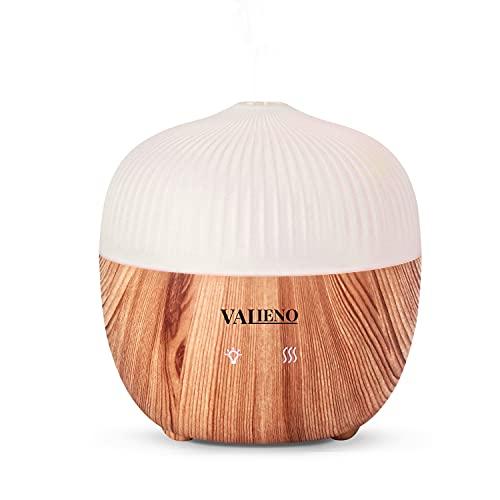 Valieno Humidificador Aceites Esenciales 160ML Difusor Aceites Esenciales con 7 Colores de Luces LED Silencioso Control Táctil, Apto para el Hogar, La Oficina, el Yoga