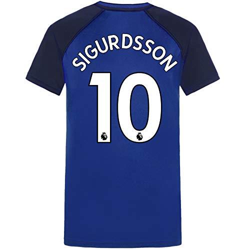 Everton FC - Jungen Trainingstrikot aus Polyester - Offizielles Merchandise - Geschenk für Fußballfans - Royalblau mit V-Ausschnitt Sigurdsson 10-12-13 Jahre