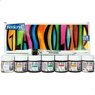 Pidilite Fevicryl Glass Color Kit, 10ml - Set of 6