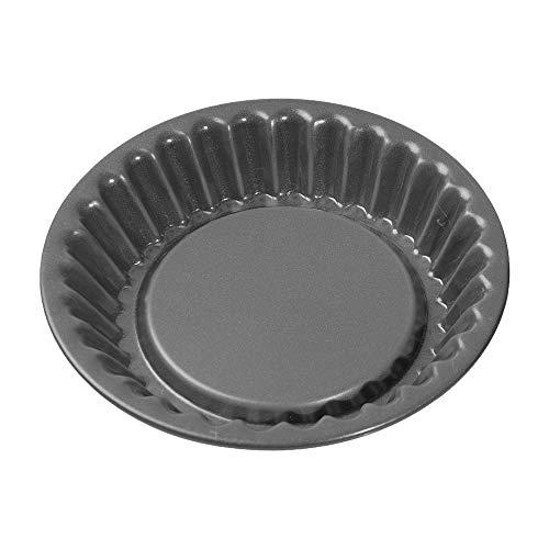 Kaiser La Forme Plus Mini Torteletts, Tartelette Förmchen 12 cm, Tarteform klein, Tortelettförmchen, Emailleboden, antihaftbeschichtet, schnittfest, auslaufsicher