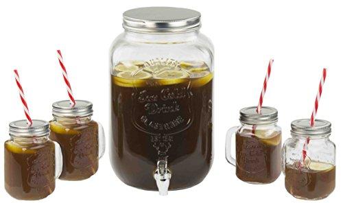 Home Basics BD44952 8 Liter Beverage Dispenser Iced - Mason Glass