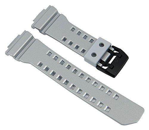 Casio G-Shock Uhrenarmband Resin Band Silbergrau für GBA-400 10488595