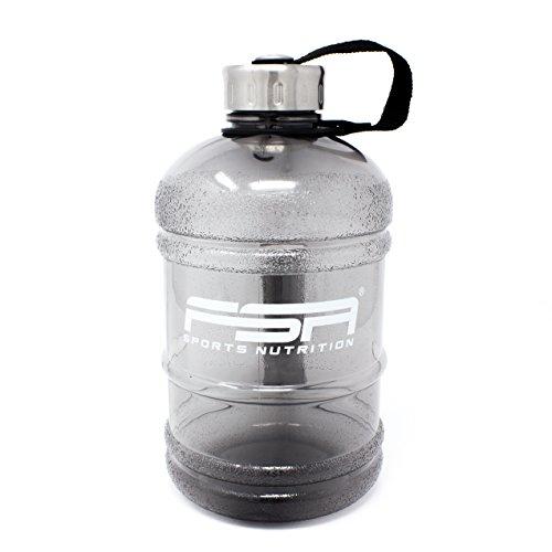 Wasserflasche Water Jug 1,89 Liter / 1890 ml in Schwarz mit Drehverschluss, frei von BPA, von FSA Nutrition