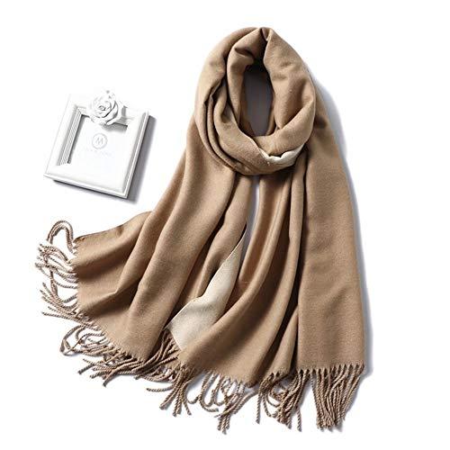 AiKoch La Bufanda del Invierno Caliente Grueso De Las Mujeres Wraps Chales Bufandas Señora Sólido Borlas Manta Foulard Comfortable (Color : 350g 18)