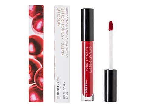 KORRES MORELLO Matte Lasting Lip Fluid - Nr. 59 Brick Red, 12er Pack(12 x 28 g)