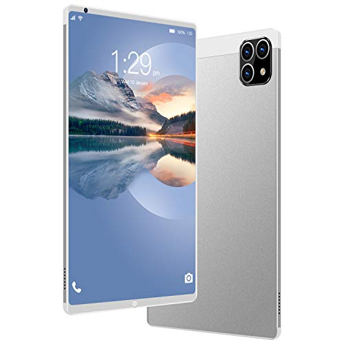 K10 8.1inch Smartphone Smart Tablet Three Hole Camera 12GB RAM + 512GB ROM 5g Network 16mp + 32mp 12core Android 8 (Blanco)