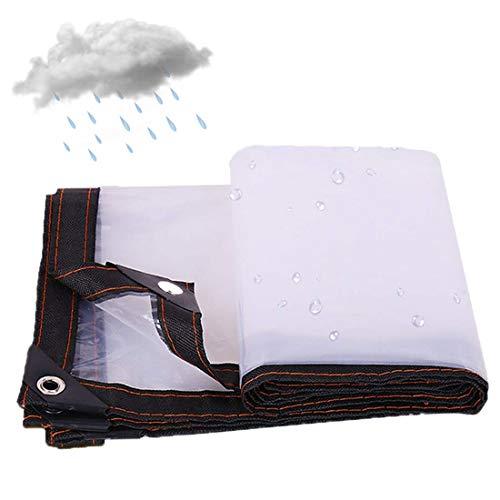 XIGG transparante dekzeil, waterdicht, zwaar, transparant dekzeil, UV-blokkerende beschermhoes 5 molens dikke zeil, plantenhoezen isolatie winddicht regendicht schuilplaats