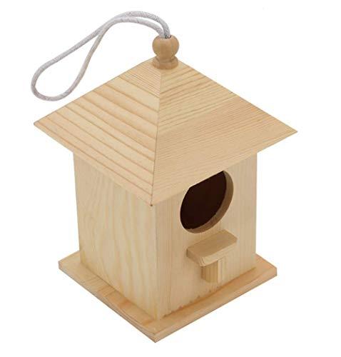 JXXZYH Casetta per Uccelli in Legno massello, mangiatoia per Uccelli da Giardino, mangiatoia per Uccelli da Esterno Gazebo, mangiatoia per Uccelli Rurale