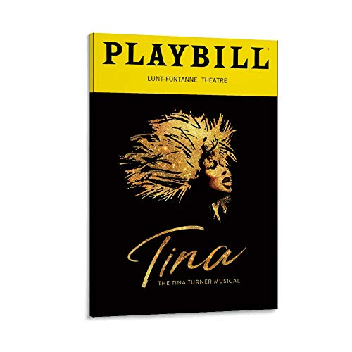 ASDJL Tina Turner on Broadway - Póster decorativo para pared, diseño de música en Broadway, 50 x 75 cm