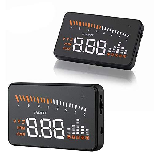 ELD 3 Pulgadas de Coches HUD Head-Up Display GPS, Auto HUD OBD II Head-Up Display sobrevelocidad de Advertencia del Parabrisas del Sistema del proyector de Alarma automática de Voltaje electró