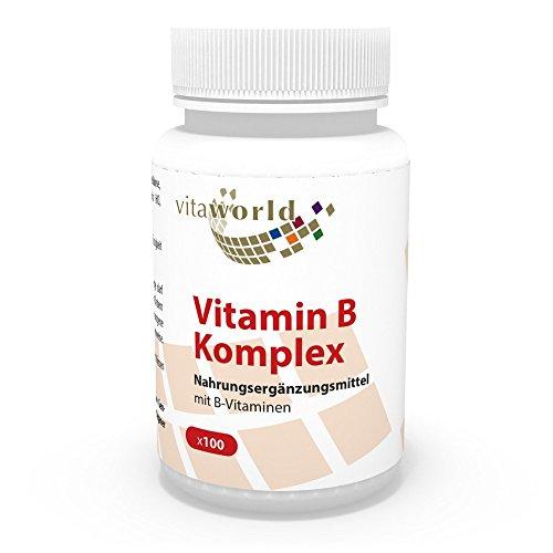 Complejo Vitamínico de Vitamina B 100 Cápsulas Vegetales - Vita World Farmacia