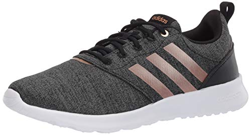 adidas Women's QT Racer 2.0 Running Shoe, Black/Copper Metallic/Grey, 5.5