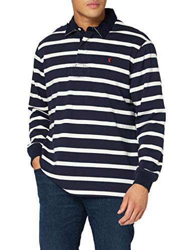 Joules Tom Herren Onside Rugby-Shirt, Navy Stripe, M
