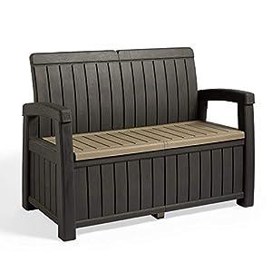 VonHaus Plastic Outdoor Storage Bench