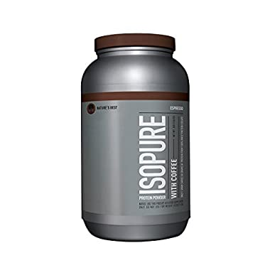 Isopure With Coffee Protein Powder, 100% Whey Protein Isolate, Flavor: Espresso, 3 Pounds (Packaging May Vary)