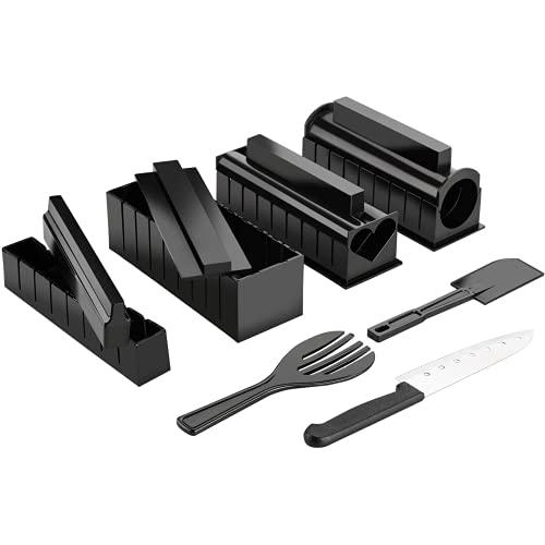 Uqfasb Kit de producción de Sushi 11 Kit de producción de Sushi DIY Roll Sushi Produce Molde de Rollo de arroz, incluidos los Sashimi de la Cocina, fácil de Usar