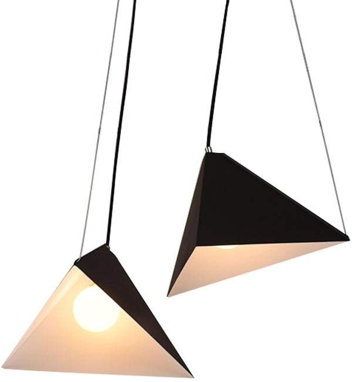 ZHANG NAN ● Restaurant-Pendelleuchte im nordischen Stil, Eisen-Dreieck, Winkeleinstellbare Beleuchtung ●
