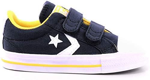 Converse Star Player 2V Amarillo/Obsidiana/Blanco Lona Bebé Entrenadores Zapatos